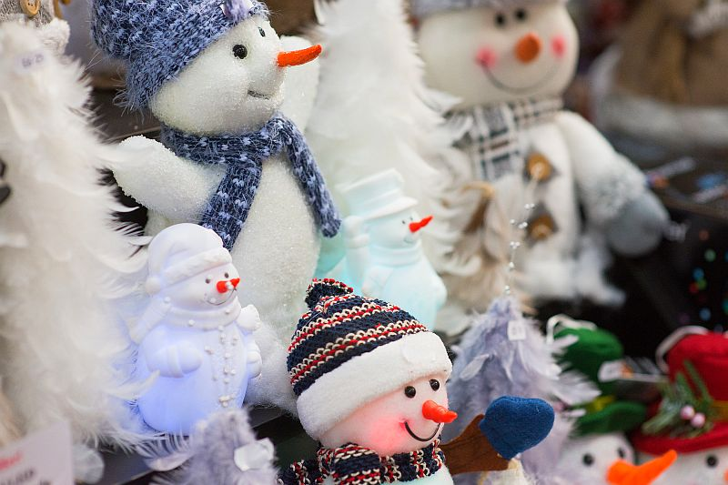 Snowmen at the Christmas Shopping Fayre in Exeter