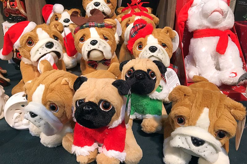 Cute toy dogs at the Christmas Shopping Fayre
