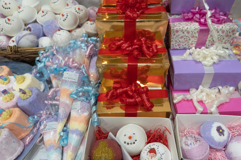 Christmas gifts at the Christmas Shopping Fayre in Exeter